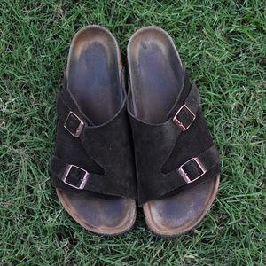 Birkenstock Zürich Suede Leather Soft Footbed
